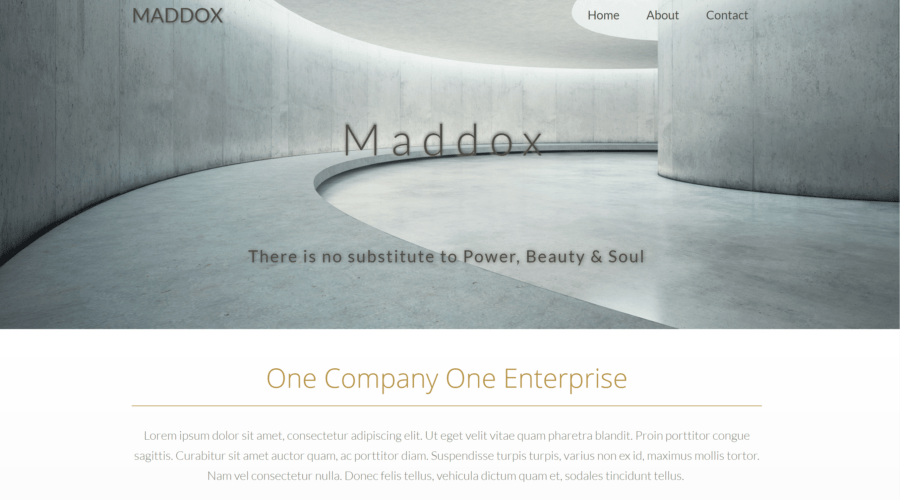 Maddox – A Webflow design by Pixel21