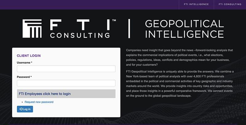 FTI Geopolitical Intelligence